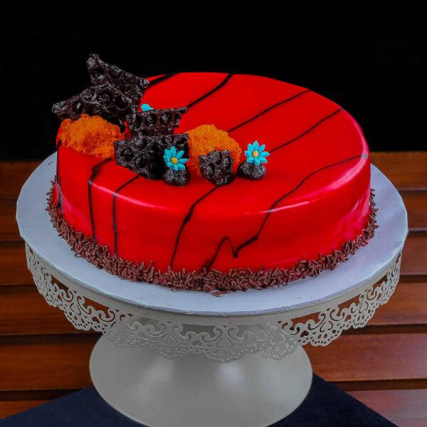 Raspberry Truffle Cake